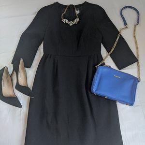 Black JCrew Wool Dress LBD